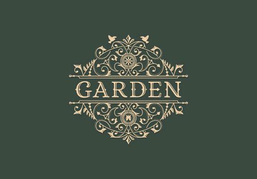迷人的欧式古典花纹装饰logo设计